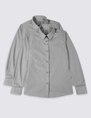 Школьная блузка с длинным рукавом с технологиями Ultimate Non-Iron и Stain Away™ (2 шт) T766014