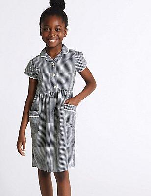 Classic – Sommerkleid mit Gingham-Muster für Mädchen, MARINEBLAU, catlanding