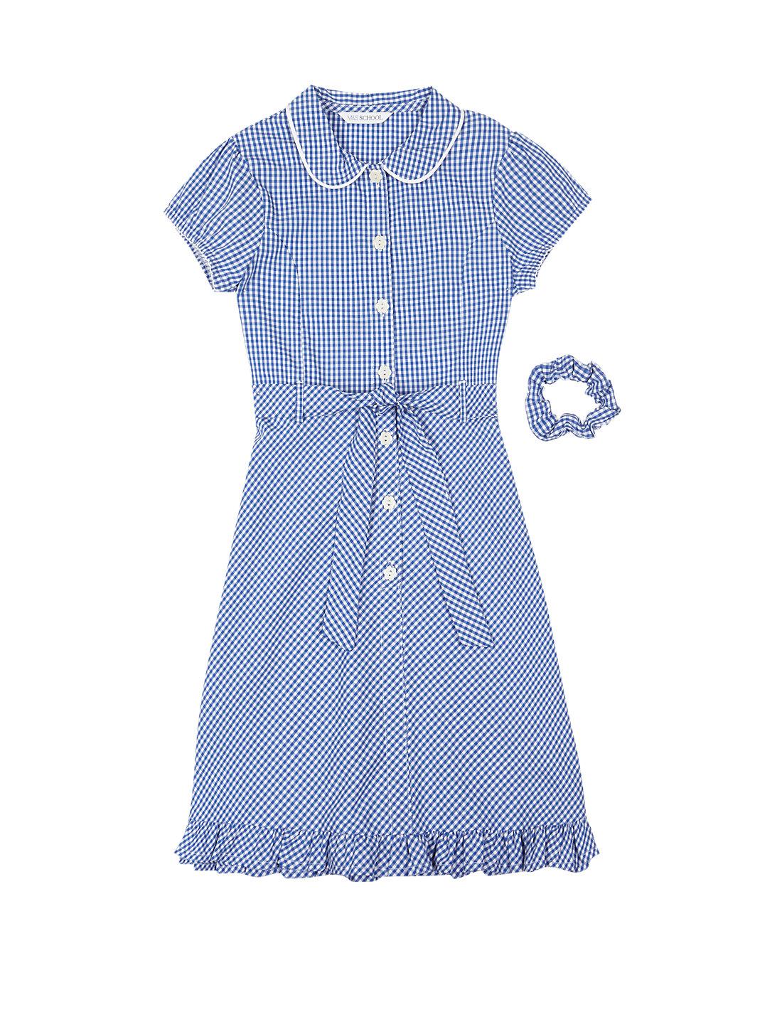Light Blue Gingham School Dress | School | George