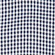 Pleated Gingham Dress, NAVY, swatch