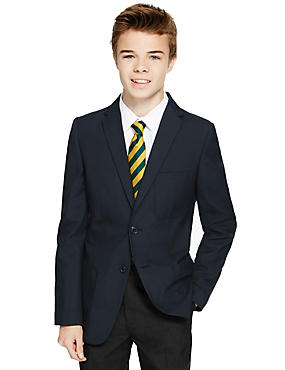 Boys' Senior Fashion Blazer with Triple Action Stormwear™ (Older Boys), NAVY, catlanding