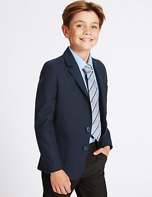 Junior Boys' Blazer, NAVY, catlanding