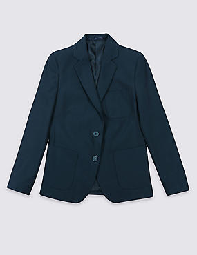 Senior Girls' Adjust-a-cuff Blazer, NAVY, catlanding