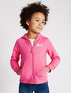 Hello Kitty Zip Through Hooded Top (1-7 Years)