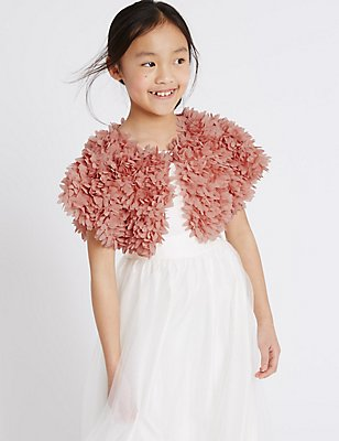 Cap Sleeve Shrug Cardigan (1-14 Years), PINK, catlanding