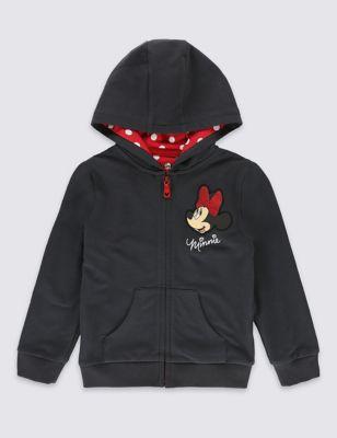 Хлопковая толстовка Minnie Mouse с капюшоном для девочки 1-7 лет