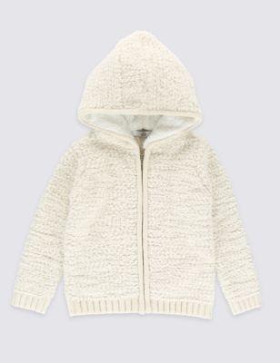 Толстовка с капюшоном и крупной вязкой для девочки 1-7 лет T771128L