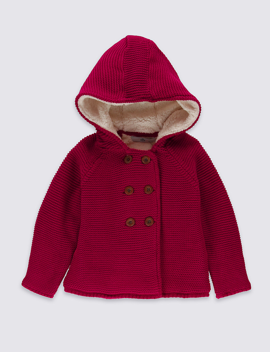 Pure Cotton Hooded Cardigan (1-7 Years) | M&S