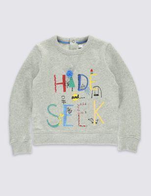 Свитшот Hide & Seek для девочки 3 месяцев - 5 лет от Marks & Spencer