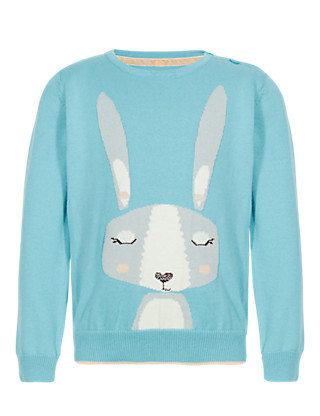 Pure Cotton Rabbit Jumper (1-7 Years) Clothing