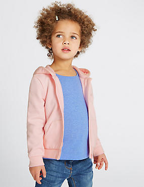Long Sleeve Hooded Top (3 Months - 5 Years), PINK MIX, catlanding
