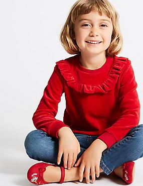 Cotton Rich Sweatshirt (3 Months - 6 Years), RED, catlanding