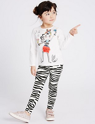 Zebra Print Jeggings (3 Months - 5 Years), IVORY MIX, catlanding