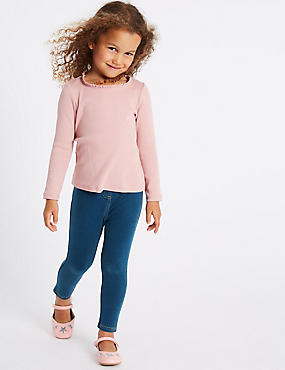 Cotton Jeggings with Stretch (3 Months - 7 Years), LIGHT DENIM, catlanding