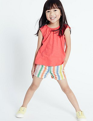 Cotton Rich Striped Shorts (3 Months - 5 Years), MULTI, catlanding