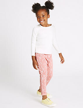 Cotton Rich All Over Print Joggers (3 Months - 5 Years), PINK MIX, catlanding