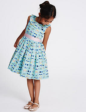Pure Cotton Prom Dress (3 Months - 5 Years), PALE JADE, catlanding