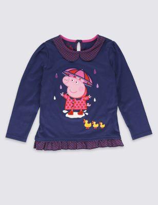 Топ Peppa Pig™ с отделкой в мелкий горошек для девочки 1-7 лет T772157C