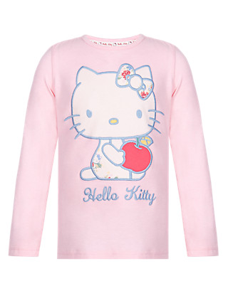 Hello Kitty Long Sleeve Apple Girls T-Shirt with StayNEW™ (1-7 Years) Clothing