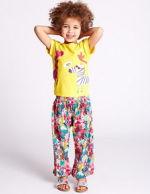All Over Print Trousers (3 Months - 5 Years), MULTI, catlanding