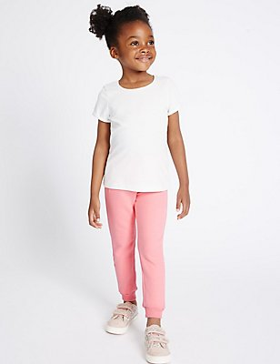 Cotton Rich Essential Joggers (3 Months - 5 Years), PALE PINK, catlanding