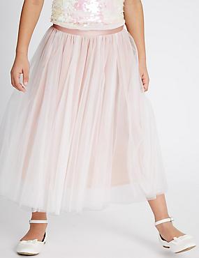 Mesh Tutu Skirt (4-14 Years), PINK, catlanding