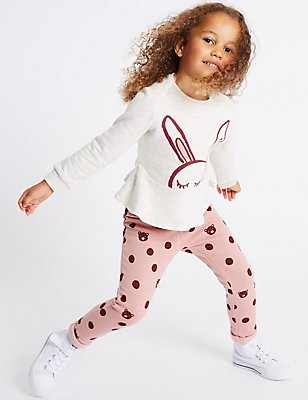 Cotton Rich Joggers (3 Months - 6 Years), PINK MIX, catlanding