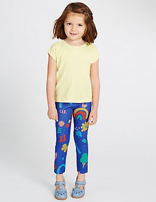 All Over Print Jeggings (3 Months - 5 Years), BLUE MIX, catlanding