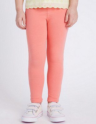 Cotton Rich Jeggings (1-7 Years), CORAL, catlanding