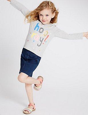Jersey Denim Skirt (3 Months - 5 Years), DENIM, catlanding