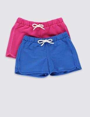 Яркие шорты для девочки 1-7 лет (2 шт) от Marks & Spencer
