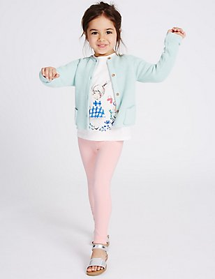 Cotton Rich Pull On Leggings (3 Months - 5 Years), LIGHT PINK, catlanding