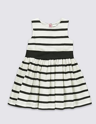 Pure Cotton Striped Prom Dress (1-7 Years), IVORY MIX, catlanding