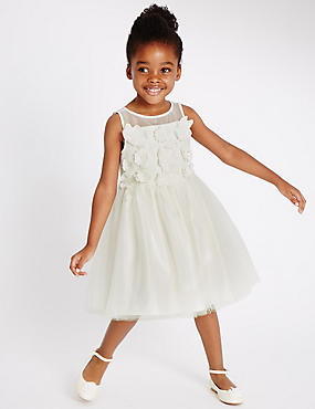 Flower Dress (1-14 Years), IVORY, catlanding