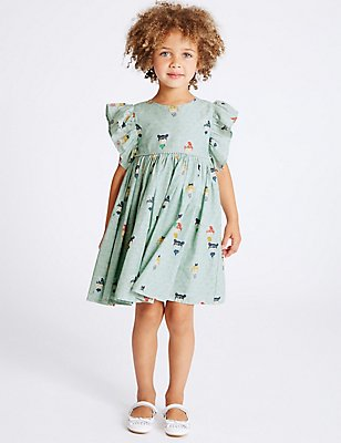 Pure Cotton Prom Dress (3 Months - 5 Years), SEA GREEN, catlanding