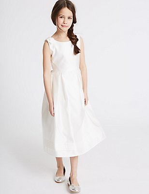 Bow Dress (1-14 Years), IVORY, catlanding