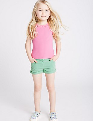 Denim Shorts (3 Months - 5 Years), GREEN MIX, catlanding