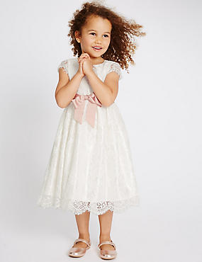 Lace Dress (1-14 Years), IVORY, catlanding
