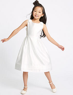 Shoulder Bow Dress (1-16 Years), IVORY, catlanding