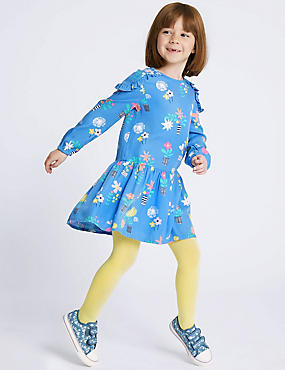 Floral Print Dress (3 Months - 7 Years), BLUE MIX, catlanding