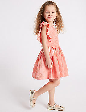 Pure Cotton Dress (3 Months - 7 Years), CORAL, catlanding