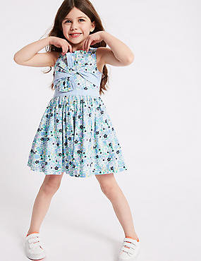 Ditsy Bow Dress (3 Months - 7 Years), MULTI, catlanding