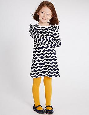 Pure Cotton Dress (3 Months - 5 Years), NAVY, catlanding