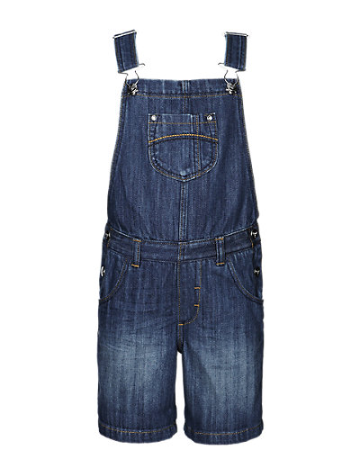 Pure Cotton Dungaree Shorts Clothing