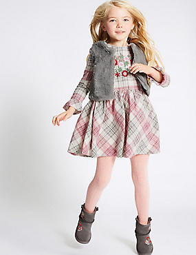 2 Piece Dress with Gilet Outfit (3 Months - 6 Years), MULTI, catlanding