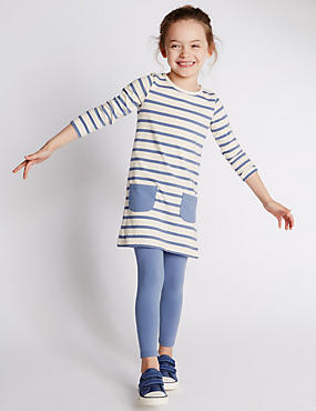 2 Piece Cotton Rich Striped Tunic & Leggings Outfit (1-7 Years)