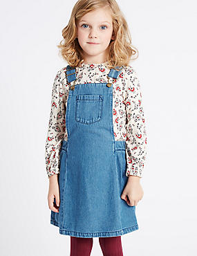 2 Piece Top & Pinafore Outfit (3 Months - 6 Years), MULTI, catlanding