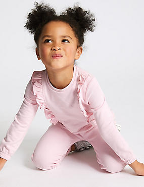 Frill Jumpsuit with StayNEW™ (3 Months - 7 Years), LIGHT PINK, catlanding