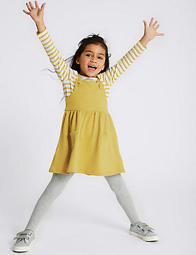 2 Piece Pinafore & Top Outfit (3 Months - 7 Years), YELLOW, catlanding
