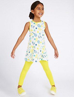 2-teiliges Outfit mit Oberteil und Leggings (3 Monate–5 Jahre), ELFENBEIN MELANGE, catlanding